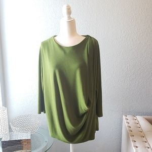 COS Green draped top